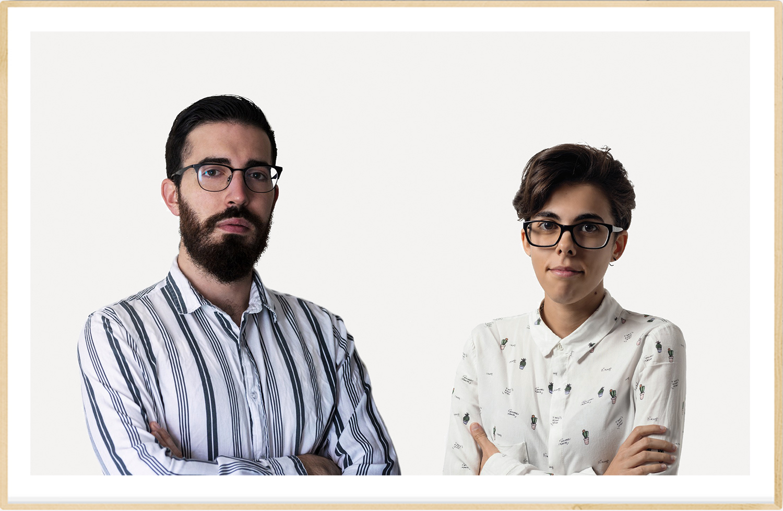 Imagen de los fundadores Jana Segura y Pedro Ruiz